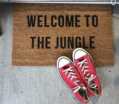 Yor242len - Felpudo de Bienvenida, diseño con Texto en inglés Welcome to The Jungle