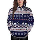 Outtop(TM) Women Sweatshirt Christmas Leisure Hoodies Long Sleeve Printing Jacket Sweater Tops Winter wear Pullover Black