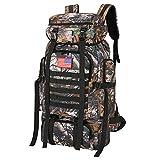 70l Hiking Backpack for Men Waterproof Military Camping Rucksack TravelDaypack(MapleLeaf Cam)
