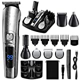ETEREAUTY Beard Trimmer For Men, 2021 Newest14 in 1 Cordless Hair Clippers, Waterproof Electric Shaver For Men with Led Display, Usb Rechargeable, Low Noise
