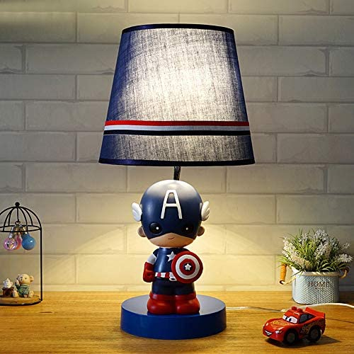 KWOKING Lighting Cartoon Movie Theme Desk Lamp Dimmable Night Light for Kids Super Hero Iron product image