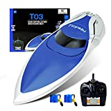 GizmoVine RC Boat High Speed (20MPH+) Remote Control Boats for Pools and Lakes with Extra Battery for Kids and Adults , 2019 Update Version (H106)