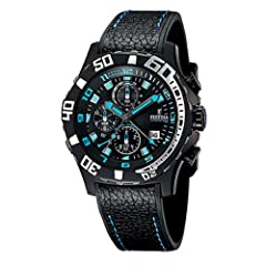 Crono Con Alarma Collection Quartz Movement 100 Meters / 330 Feet / 10 ATM Water Resistant 44mm Case Diameter Mineral Crystal