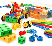 Play22 Building Blocks 104 Set - Building Toys Gift for Boys & Girls - STEM Educational Fun Toy Set, Ages 3 Years and Up - Original