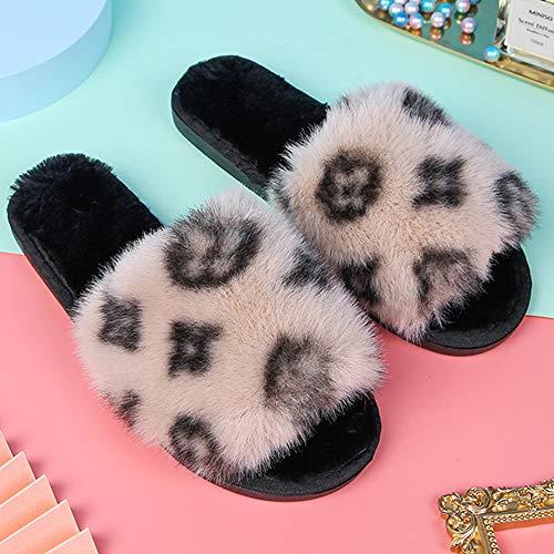 Yhjmdp Felpa Zapatillas de Casa de Invierno para Mujer, Zapatos abrigados, Chanclas...