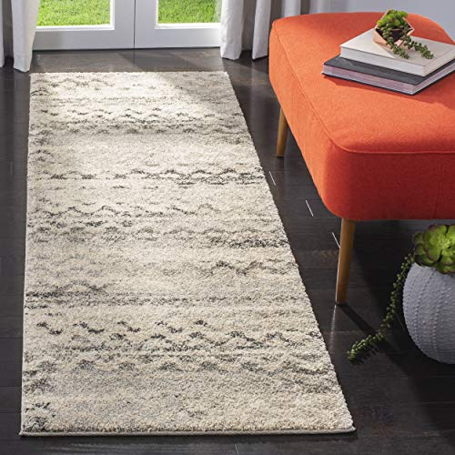 Safavieh Retro Collection RET2136-1180 Cream and Grey Distressed Runner (2'3″ x 9′)