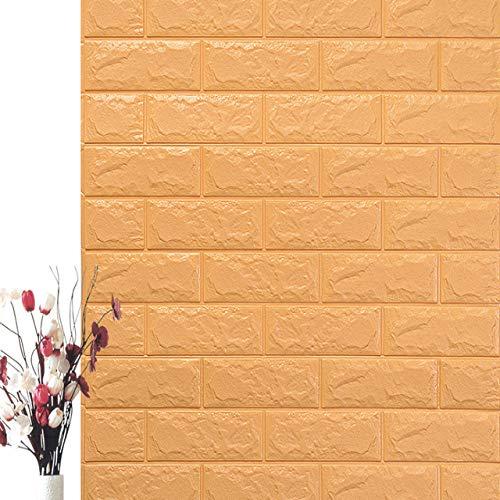 Bumpy Road 10PCS Selbstklebend Wasserdicht TV Hintergrund Backstein Tapeten 3D Wandaufkleber Wohnzimmer Tapete Wandbild Schlafzimmer Dekorativ