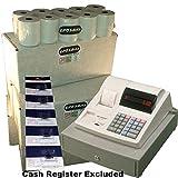 EPOSBITS® Marca 100 rollos + 5 tintas para caja registradora Sharp XE-A110 XEA-110 XEA110
