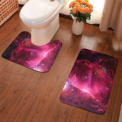 John J Littlejohn Non Slip Starry Sky (6) Bathroom Antiskid Pad Bathmat Waterproof Bath Carpet Floor Rug 2 Pieces Pads Bath Mat + Contour