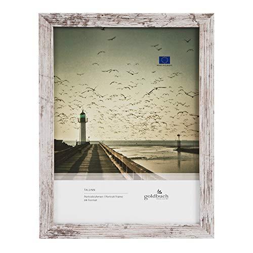goldbuch Cornice portafoto Tallinn Vintage in legno, cornice per foto in formato DIN A4, cornice con supporto a parete, cornice singola in MDF, 24 x 32,8 x 1,5 cm, 92 0496
