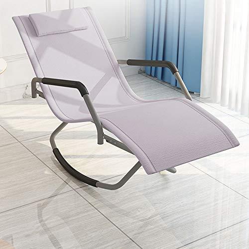 XHRHao Silla Mecedora Plegable con Reposabrazos Y Respaldo Oscilación De 150° Silla De Relax Ideal...