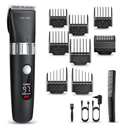Haarschneidemaschine Elektrischer Haarschneider Bart Trimmer Herren Präzisionshaartrimmer Mit 8 Aufsatzkämmen Für Salon Oder Zu Hause Schwarz