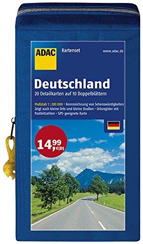 ADAC StraßenKarten Kartenset Deutschland 2016/2017 1:200.000: 20 Detailkarten auf 10 Doppelblättern (ADAC KartenSet Deutschland)