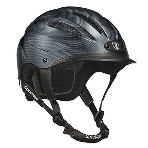 Tipperary Sportage Equestrian Sport Helmet, Large, Carbon Gray