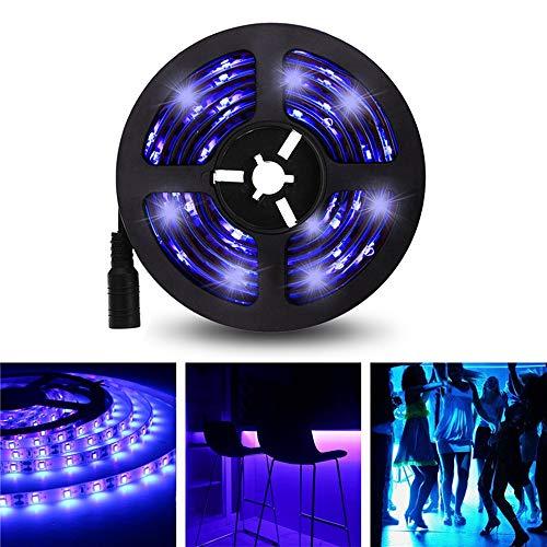Hengshan 5M 3528SMD Striscia LED UV impermeabile non impermeabile con connettore CC DC12V (Color : Color: purple)