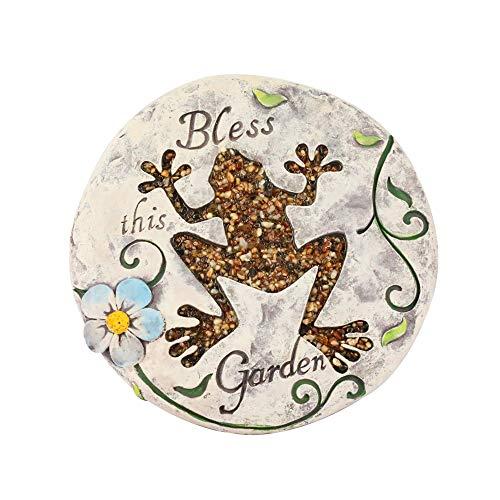 Kailya Kreativ Zement Runden Garten Trittstein Karikatur Tier Muster zum Zuhause (Frosch)
