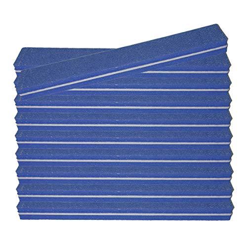 10 pièce Tampon Lime À Ongles bleu Largeur Droite - Fichier Tampon Pour Salon De Ongles - 100/180 Grit - Tampon Professionnel