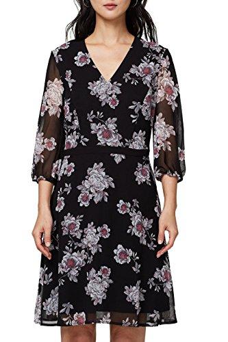 ESPRIT Collection Damen 018EO1E014 Kleid, Schwarz (Black 2 002), 36