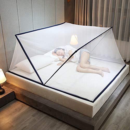 JINBAOYA-Mosquiteras Plegables, mosquiteras portátiles, mosquiteras Plegables sin instalación, Carpas para Acampar al Aire Libre, Azul Real, 160x190cm