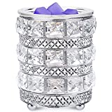 ARVIDSSON Electric Wax Melt Warmer, Crystal Wax Warmer for Scented Wax, Wax Melter Wax Burner with Timer Setting, Scentsy Candle Warmer with 25W Edison Bulbs