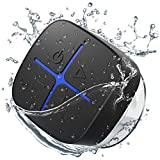Onforu Shower Speaker, Bluetooth Waterproof Speaker with Suction Cup, Portable Wireless Bathroom Speaker with Stereo Sound, Built-in Mic, 10H Playtime, Mini Speaker for Outdoor, Kitchen, Pool
