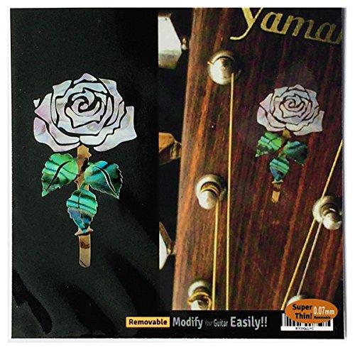 Inlay Aufkleber für Gitarre Kopfplatte – Rosanne Cash Rose