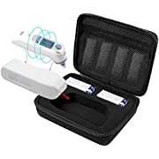 Thermometer Case Cover for Braun Digital Ear Thermometer ThermoScan 5 IRT6500 and 7 IRT6520, Hard EVA Travel Bag Storage with Accessories Pocket, by COMCASE (Case Only)