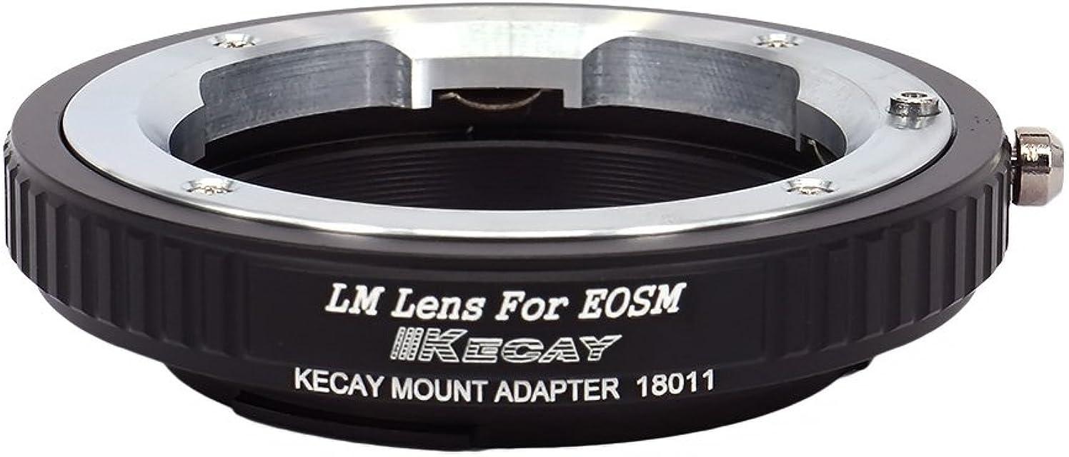 KECAY Anillo Adaptador para Adaptar Lentes de Leica M Mount a Cámaras Canon EOS-M EF-M Monte M1 M2 M3 M6 M10 M50 M100 - Adaptador Lentes Leica M para Canon EOS-M LM-EOSM