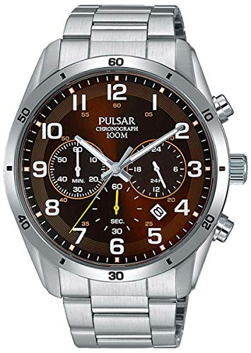 Seiko Herren Analog Quarz Uhr mit Edelstahl Armband PT3843X1