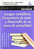 Lengua Castellana, Comentario De Texto Y Desarrollo De Un Tema De Actualidad. Fase General. Prueba...