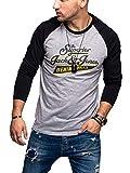 Jack & Jones JJERAGLAN Logo tee L/S Noos Shirt, Black/Fit:REG, L para Hombre