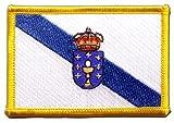 Flaggen Aufnäher Spanien Galicien Fahne Patch + gratis