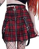 Goth Clothing Goth Skirts for Women Girls Skirts Goth Sweater Skirts for Girls Gothic Dresses Girls Skorts Plaid Skirt for Girls Alternative Clothing Goth Gothic Dresses for Women