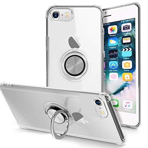 LAPOPNUT - Carcasa para iPhone con anillo de dedo de 360 grados con rotación