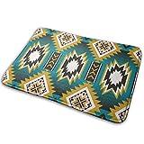 fgjfdjj Nativo Americano Indio Azteca geométrico Personalizado Personalizado Felpudo Interior/Exterior Felpudo Felpudo alfombras Antideslizantes alfombras de Cocina de Goma 23,6 x 15,8 Pulgadas