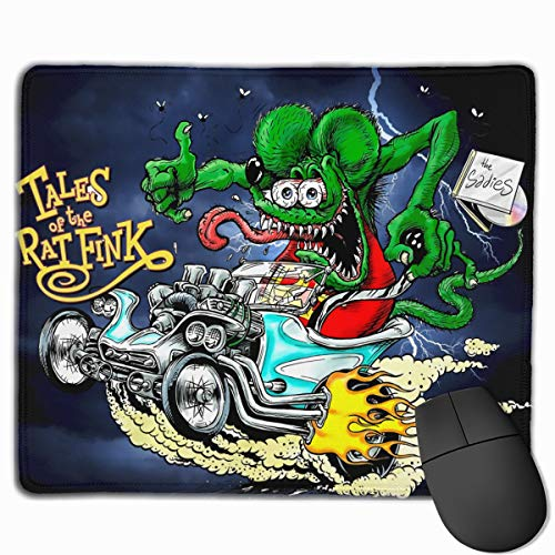 JUDE NICHOLLS Rat Fink Mouse Pad Anti-Slip Mat Mice Mousepad Desktop Mouse Pad Laptop Mouse Pad Gaming Mouse Pad Support for All Computer