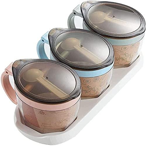 Kruidendoos Huishoudelijke opbergdoos Set Eenvoudige kruidenkruik Keukenbenodigdheden Kruidendoos Kruiden potten WSYGHP