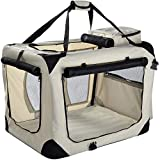 Lightweight Fabric Pet Carrier for Cats, Dogs and More with Fleece Mat and Food Bag