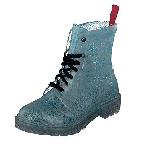 GOSCH SHOES Damen Boots Schuhe Stiefel Transparent 7105-155-879 PVC in Türkis (40)