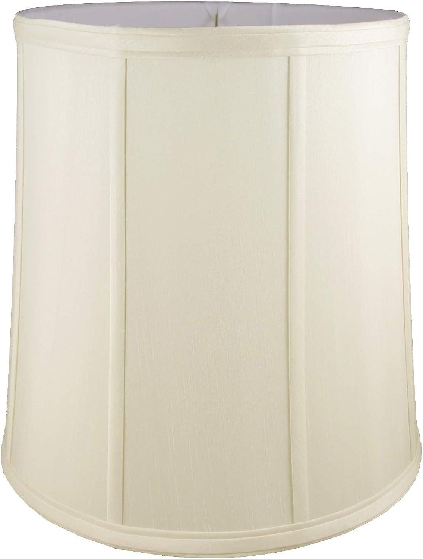 American Pride 8 x 9 x 10  Round Soft Shantung Tailored Lampshade, Eggshell