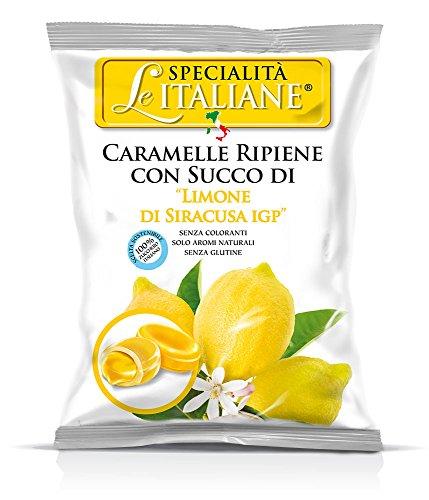 Serra Le Italiane, Italian Natural Hard Candy Filled With Lemon From Siracuse Italy, 3.5 oz