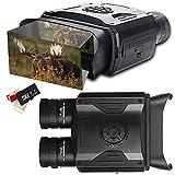 Prismáticos Visión Nocturna Digital HD Infrarrojo Caza Binoculares 5X8 Zoom Alcance Visual de 1640 ft/500M Cámara Infrarroja con Pantalla LCD de 3.5' y Tomar HD Fotos/Video con Tarjeta 32GB
