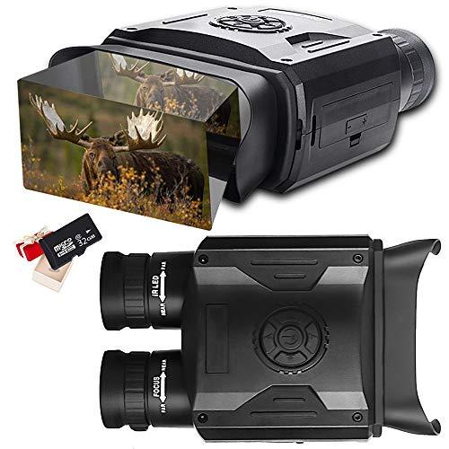 """Prismáticos Visión Nocturna Digital HD Infrarrojo Caza Binoculares 5X8 Zoom Alcance Visual de 1640 ft/500M Cámara Infrarroja con Pantalla LCD de 3.5\"""" y Tomar HD Fotos/Video con Tarjeta 32GB"""