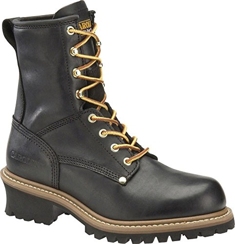 Men's Carolina Steel Toe Logger Boots Black, BLACK, 10.5