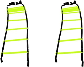 GSI Speed Agility Ladder Track and Field Equipment for Sports Training and Soccer Football Tennis Baseball Drills (10 Rungs)