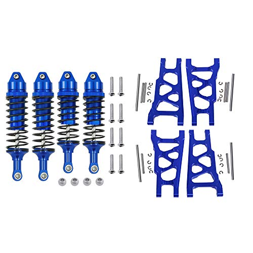 Aluminum Front&Rear Shock Absorber&Suspension A Arms 3655 5862 for RC Traxxas 1/10 4x4 4WD Slash Rustler Stampede