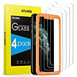 SPARIN 4 Pack Screen Protector Compatible with iPhone 11 Pro/iPhone Xs/iPhone X, Tempered Glass