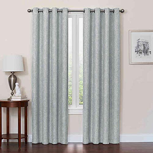 Design Solutions Total Blackout Quinn 63-Inch Grommet Top 100% Blackout Window Curtain Panel in Spa