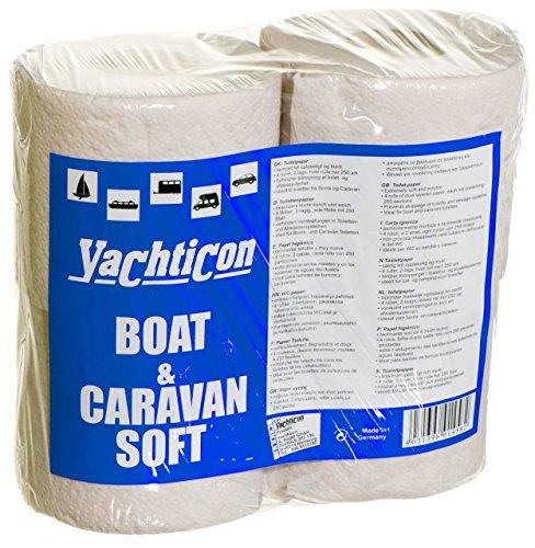 YACHTICON Boat & Caravan Soft WC Papier 4 Rollen