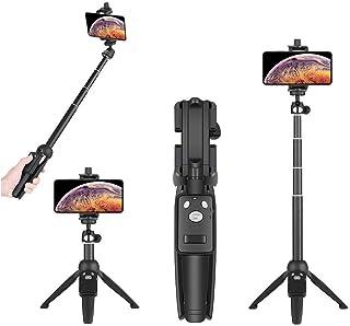 自撮り棒 Bluetooth 三脚 スマホ セルカ棒 100cm コンパクト 軽量 無線 USB充電式 ワイヤレス リモコン シャッターボタン付き iPhone Xs Max Xr X 8 Plus 7 plus 6 Android/Smsang Galaxy Note 8 S8 Plus SONY/GoPro カメラなどに対応
